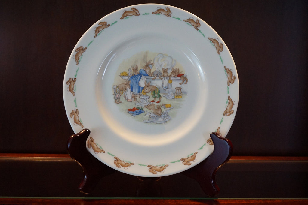 "Royal Doulton ""Bunnykins"" fine bone china plate - Wash Day."