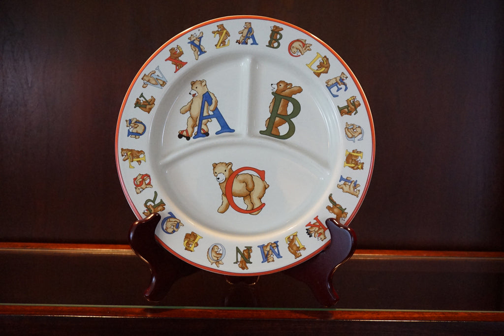 Tiffany & Co. Alphabet Bears divided porcelain plate