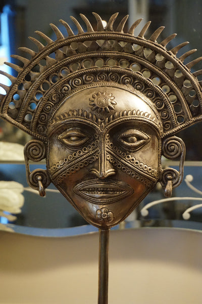 South American styled mask on a stand.