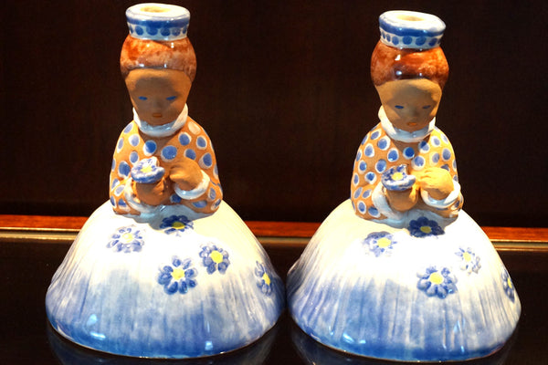 Ceramic Figural Candle Holders