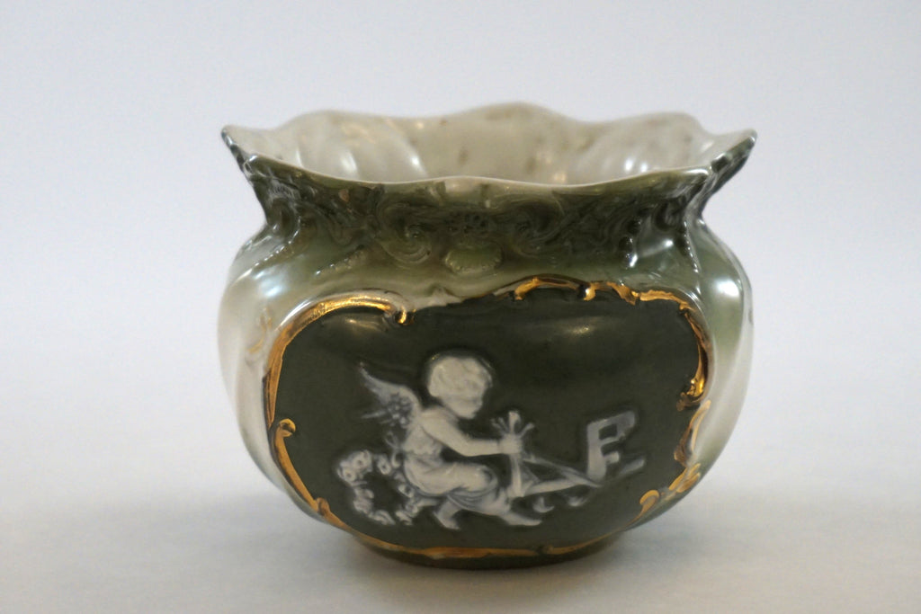 Jasperware-Like Cherub Bowl