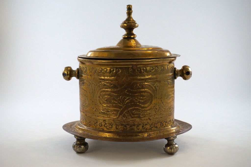 Brass Container with Hinged Lid