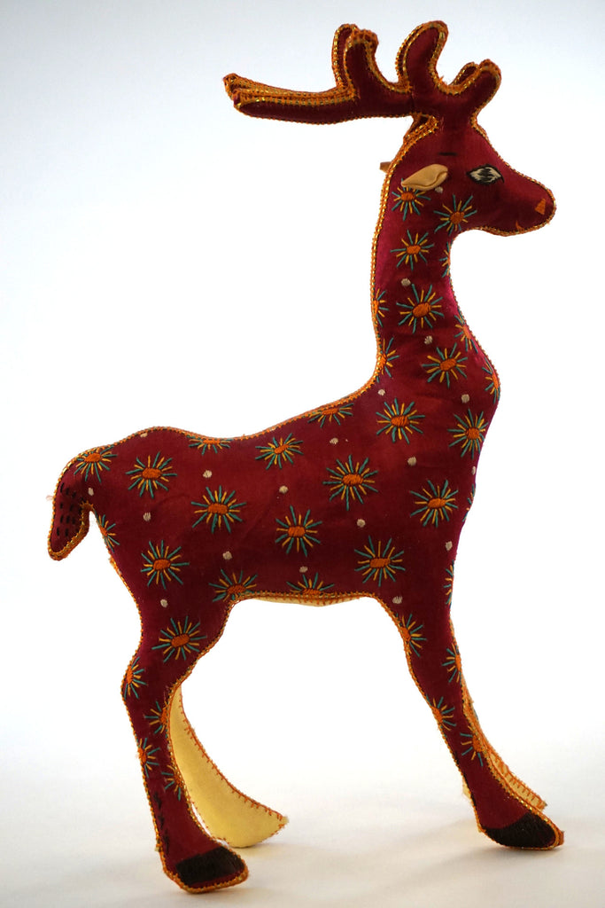 Embroidered Silk Deer
