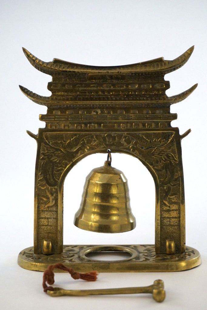 Pagoda Style Hanging Brass Bell