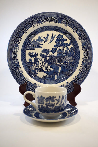 12 PC Churchill Blue Willow Set