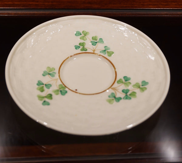 Belleek Saucer - 3rd Black Mark