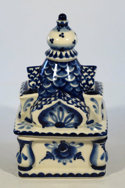 Gzhel Ceramic Trinket Box