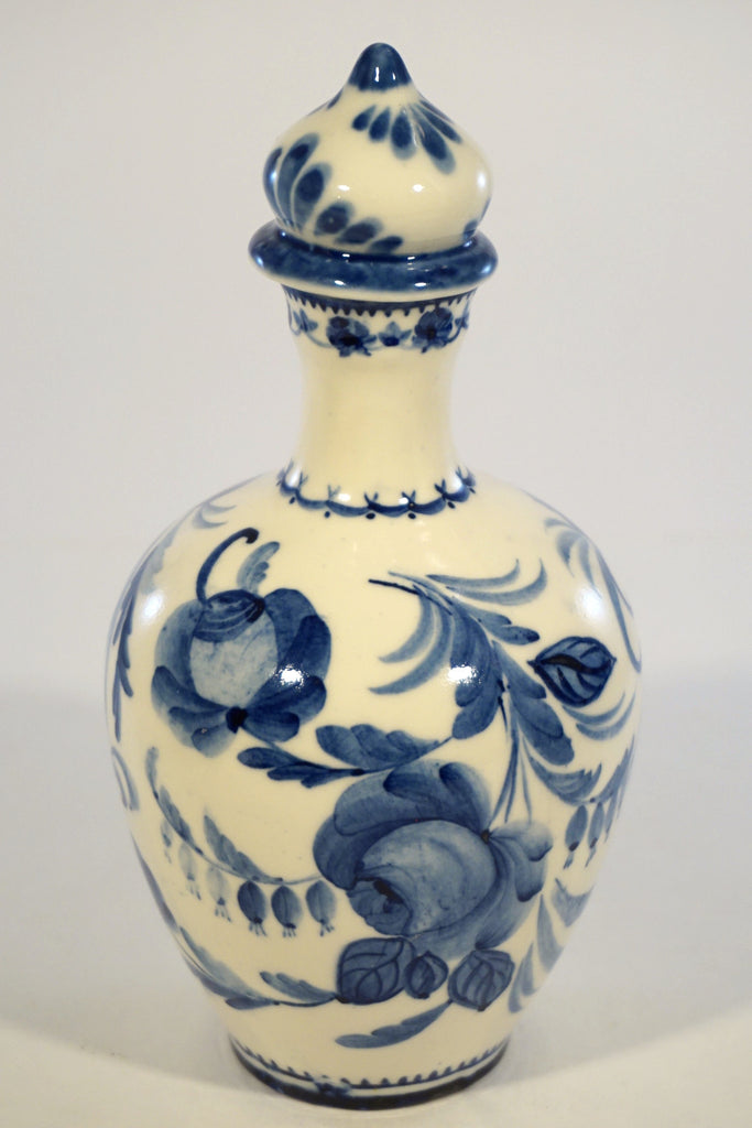 Russian Blue & White Decanter