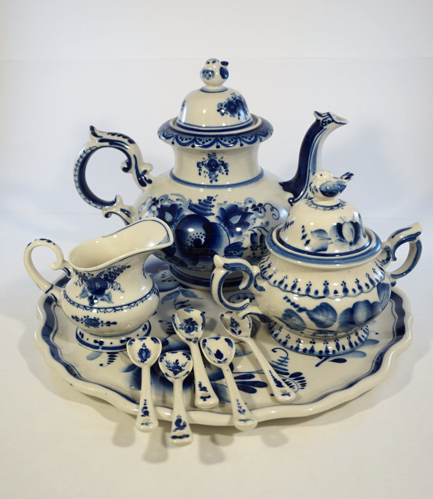 Russian Gzhel Tea Service