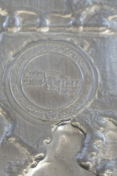 Zinn Becker Pewter Plate Boxwood Lane Zinn Becker