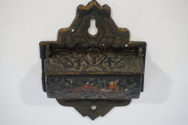 Antique Cast Iron Match Safe