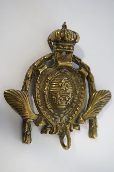 Coat of Arms Brass Hook