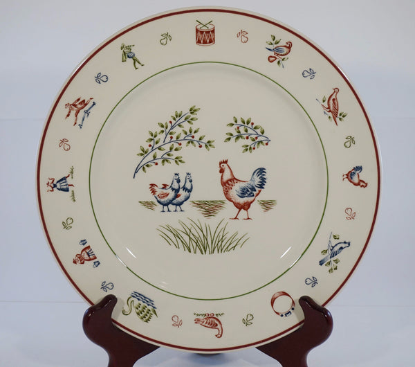 12 days of christmas plate 3 hens