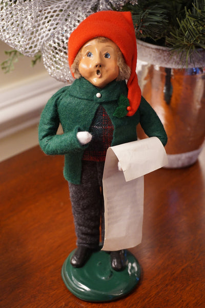 Caroler Boy with Sheet Music
