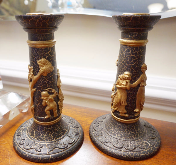 Roman Relief Candle Holders