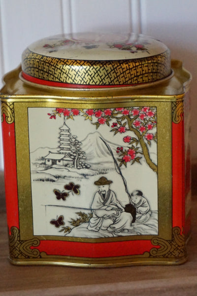 Tin with Asian Theme