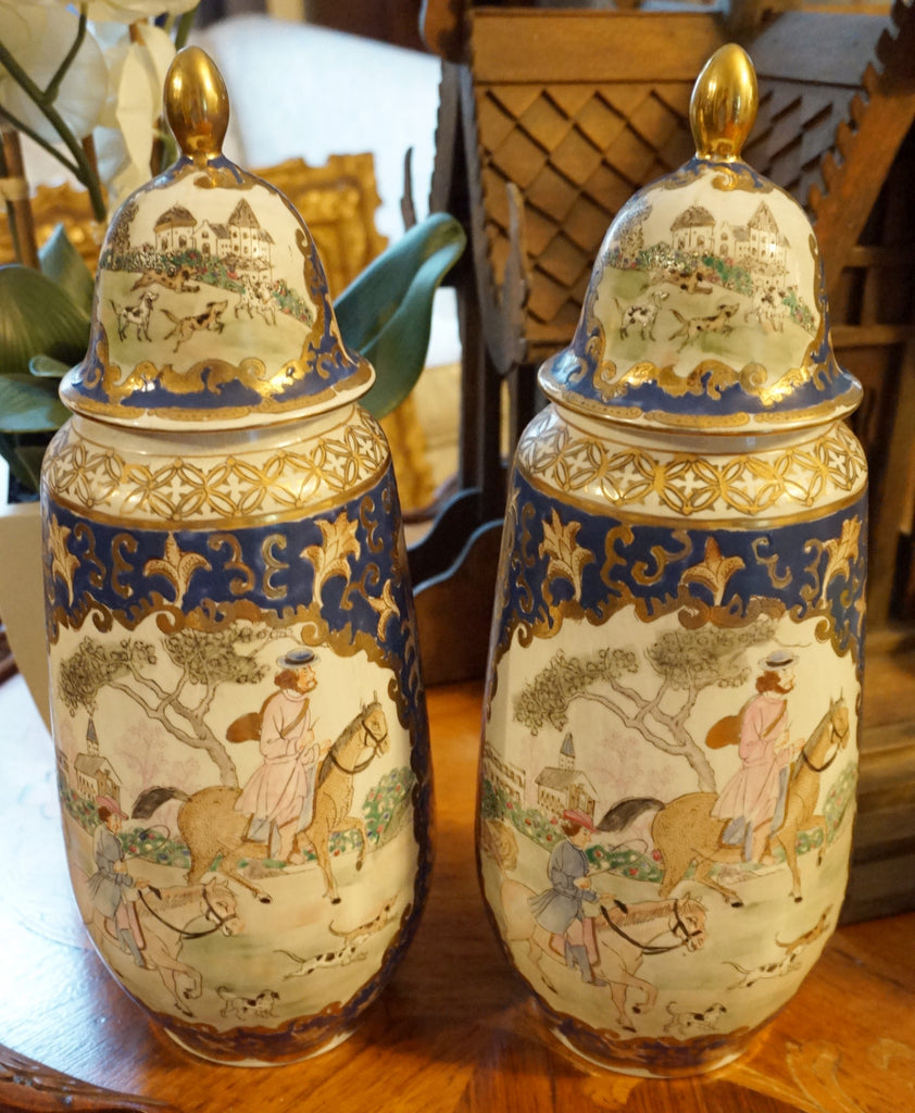 Qing Dynasty Repro Mantle Jars