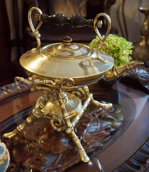Brass Teapot with Tilting Stand