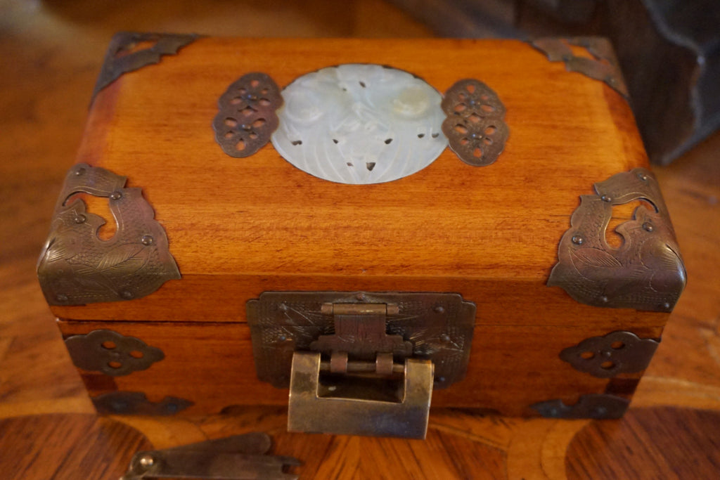 Asian Jewelry Box with Lock