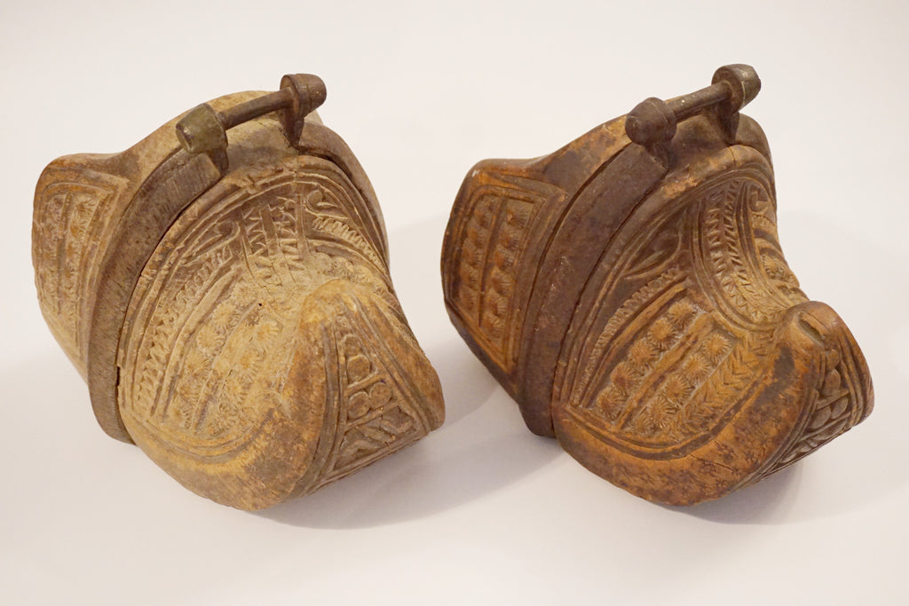 Antique Carved Stirrups - 1800s