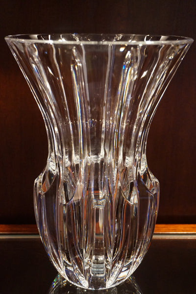 Heavy Glass Flower Vase