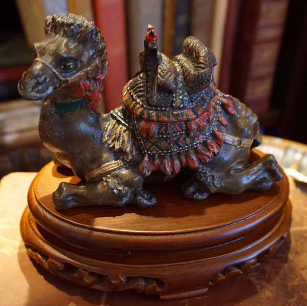 Antique Camel Inkwell