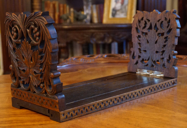 Carved Wood Expandable Bookends