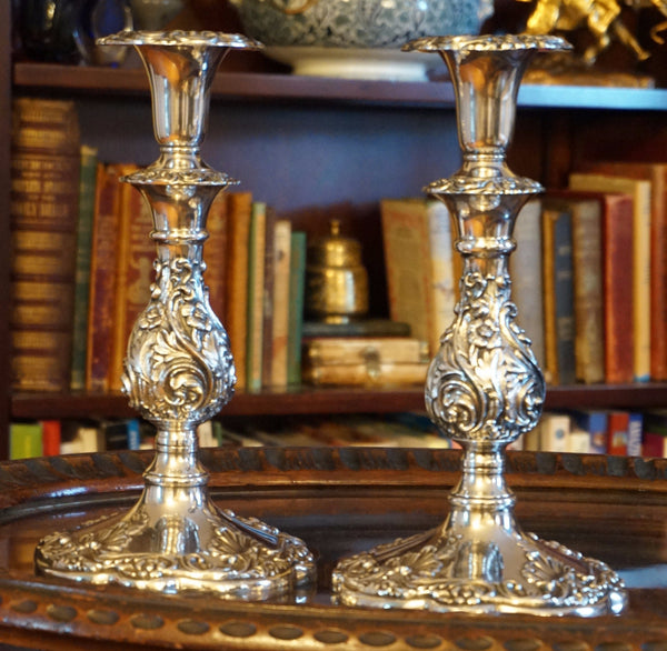 Sheffield Silver Candlesticks