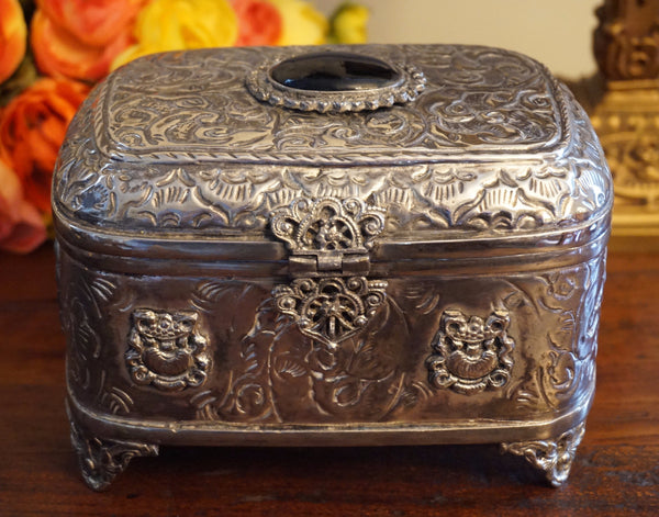 Vintage Silverplate Trinket Box