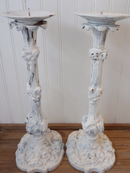 Cast Iron Vintage Candlesticks