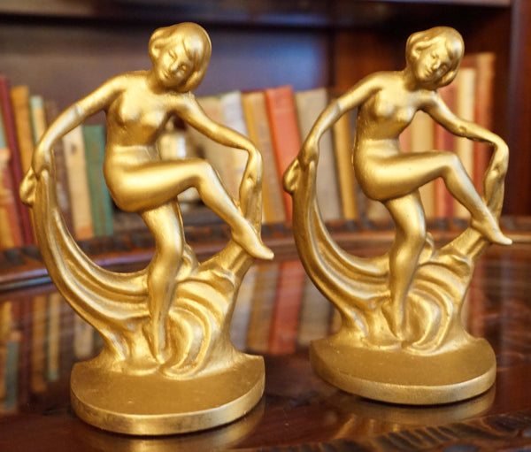 Scarf Dance Art Deco Bookends