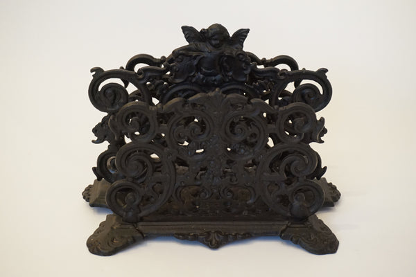 Iron Cherub Letter Holder
