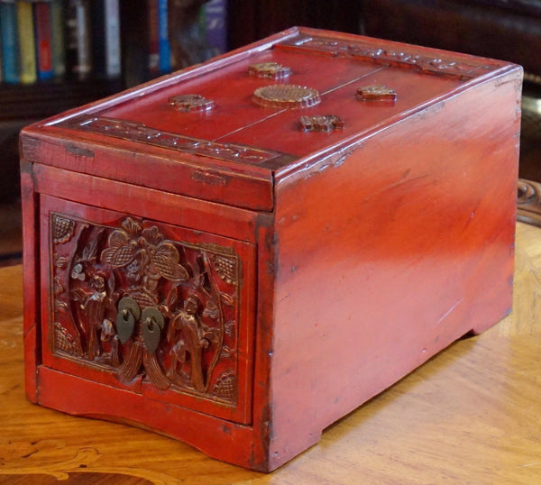 Antique Chinese Carved Wood Box