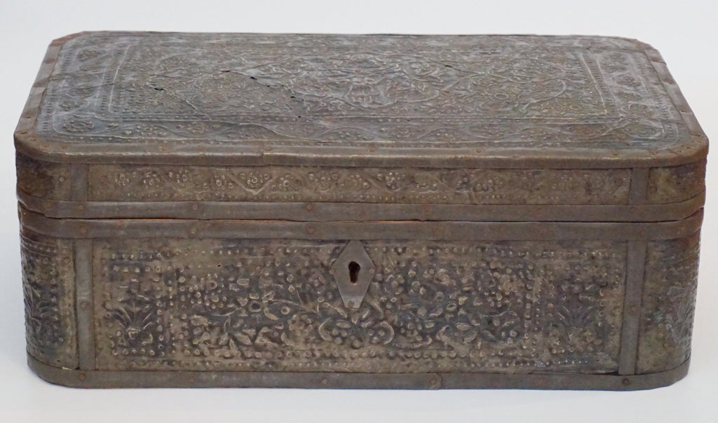 Embossed Metal and Wood Box