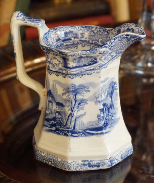 Antique Blue and White Creamer