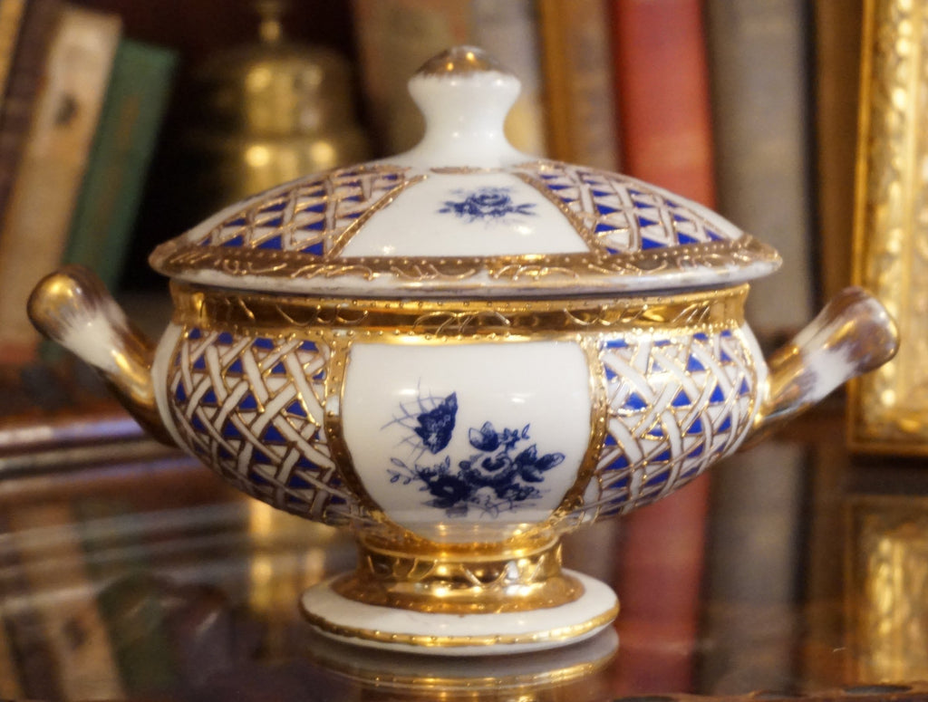 Gilded Porcelain Covered Bowl