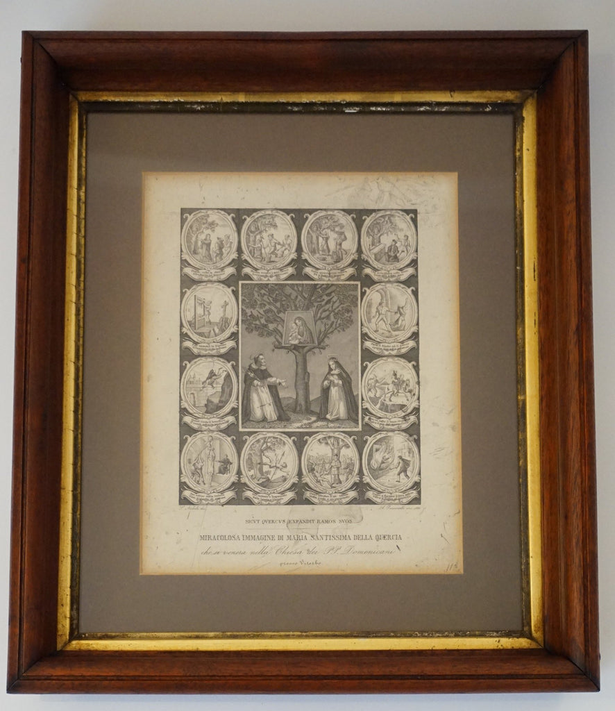 Puccinelli Framed Engraving