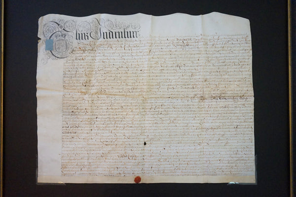 Indenture Document - 1698