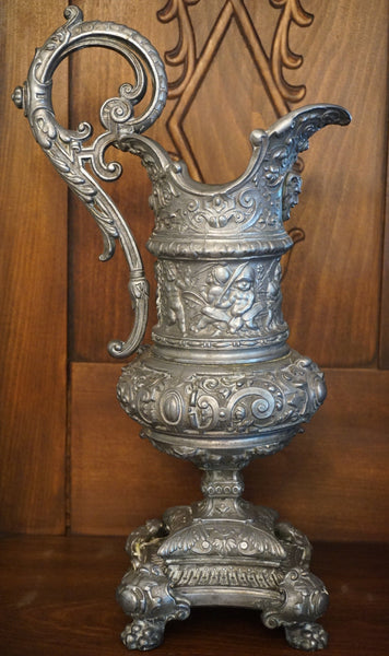 Ornate Pewter Ewer