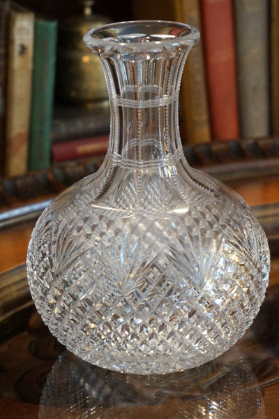 Cut Glass Carafe Style Vase