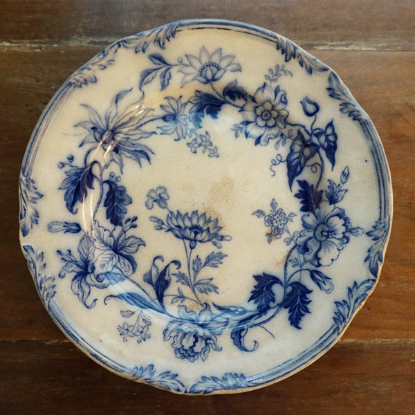 Windsor Wreath Flow Blue Plate