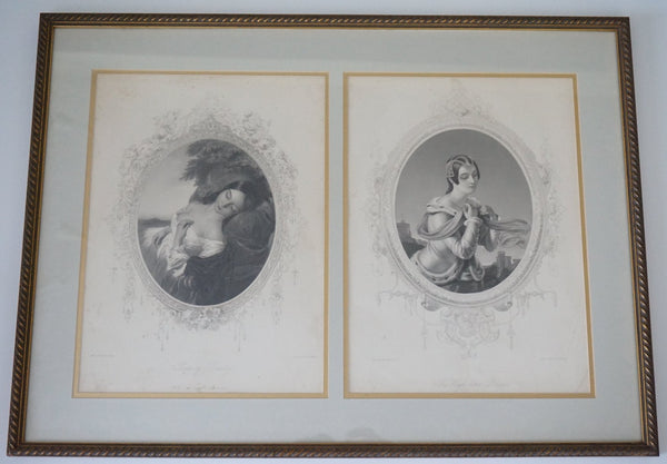 Antique Stipple Prints - 1880's
