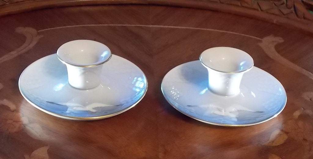 Bing & Grondahl Denmark (Royal Copenhagen) porcelain candle holders