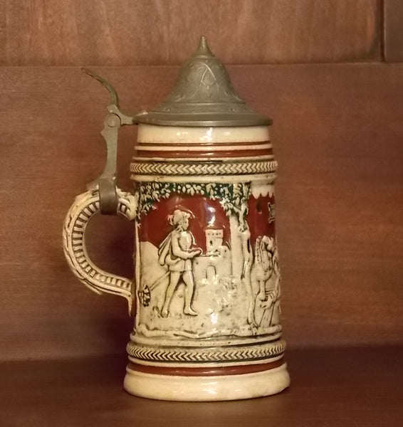Small German Beer Stein with Lid