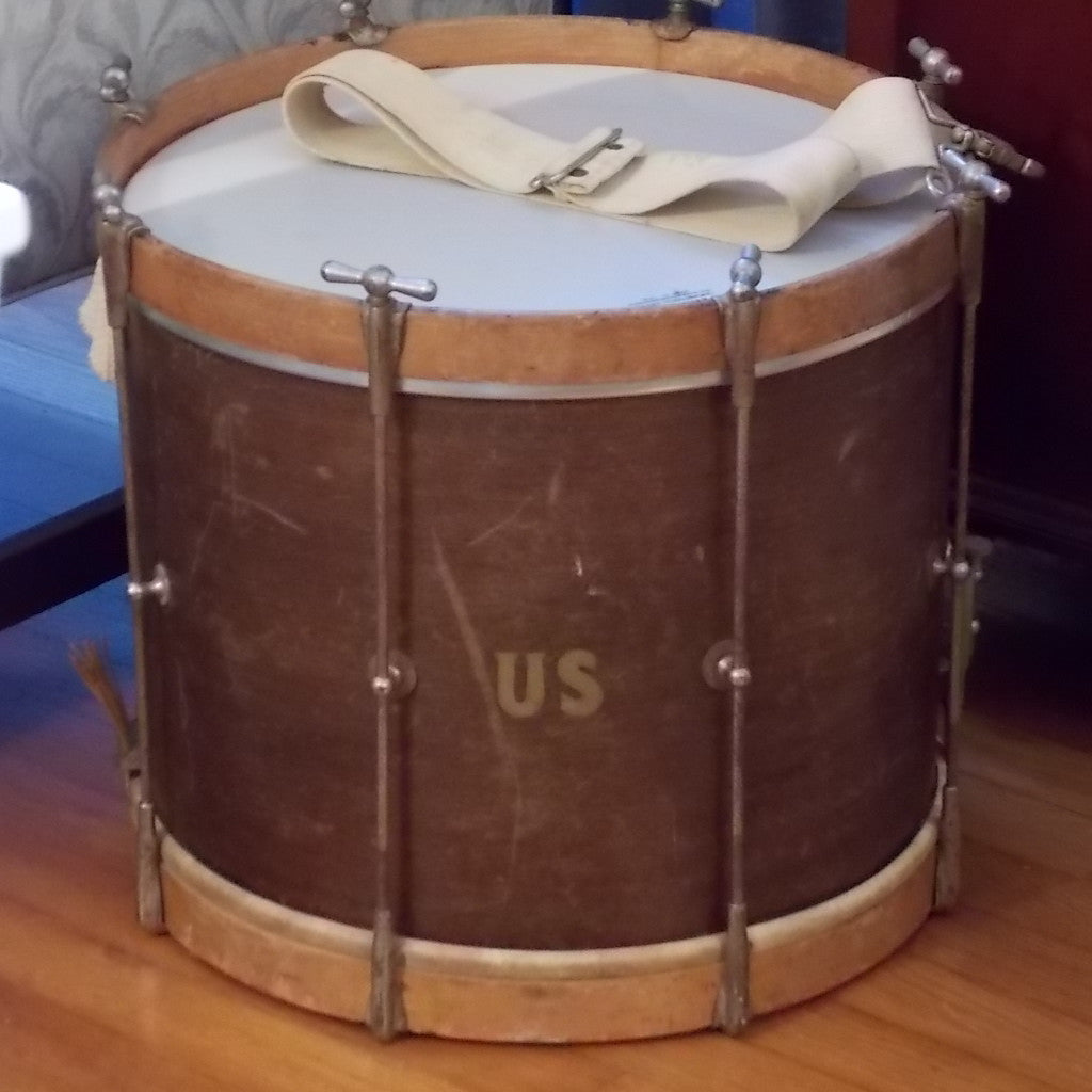 Vintage Ludwig Marching Snare Drum with Shoulder Strap