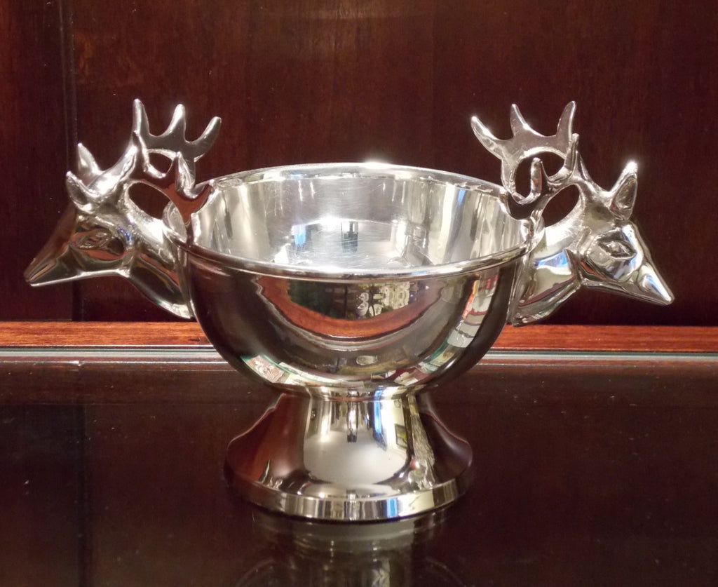 Silverplate Deer Figure Cup