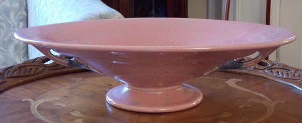 Roseville footed oval bowl in the Tuscany pattern