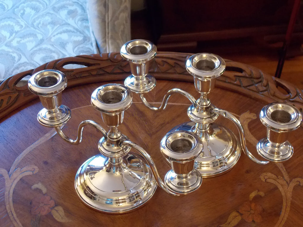 Pair of Sterling Candleholders