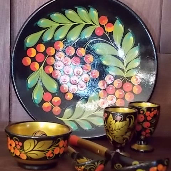 13-piece Russian Lacquerware Set