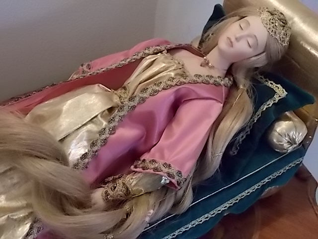 "Danbury Mint ""Sleeping Beauty"" Porcelain Doll"